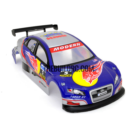 1 18 Audi Painted Rc Car Body With Rear Spoiler Blue Littohot