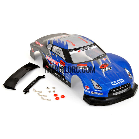 1/18 LOTUS Nissan Analog Painted RC Car Body With Rear Spoiler (Blue)