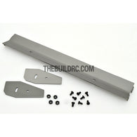 1/10 RC Racing Car 167x24mm Alloy Aluminum GT Wing Rear Spoiler - Grey