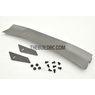 1/10 RC Racing Car 168x28mm Alloy Aluminum GT Wing Rear Spoiler - Grey