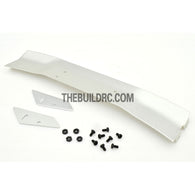 1/10 RC Racing Car 168x28mm Alloy Aluminum GT Wing Rear Spoiler - Silver
