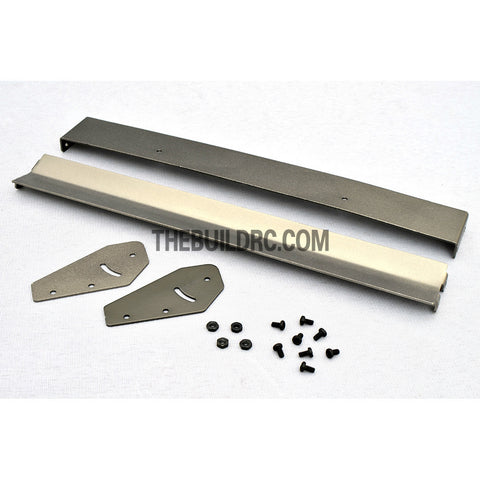 1/10 RC Racing Car 181x22mm Alloy Aluminum GT Double Wing Rear Spoiler - Grey