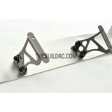 1/10 RC Racing Car Alloy Aluminum 32x 25mm GT Wing Rear Spoiler Stand - Grey