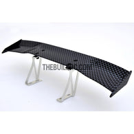 1/10 RC Racing Car 168x28mm Carbon Fiber Pattern GT Wing Rear Spoiler (Shiny)