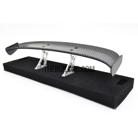 1/10 RC Racing Car 183x31mm Carbon Fiber Pattern GT Wing Rear Spoiler with Stand