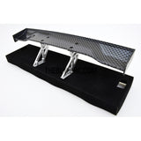 1/10 RC Racing Car 186x31mm Carbon Fiber Pattern GT Wing Rear Spoiler with Stand Style A