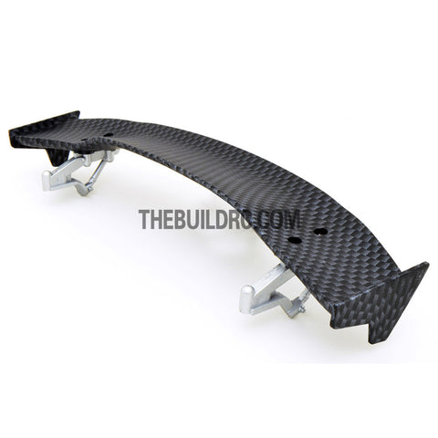 1/10 RC Racing Car 186x32mm Carbon Fiber Pattern GT Wing Rear Spoiler with Stand