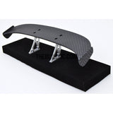1/10 RC Racing Car 183x29mm Carbon Fiber Pattern GT Wing Rear Spoiler with Stand