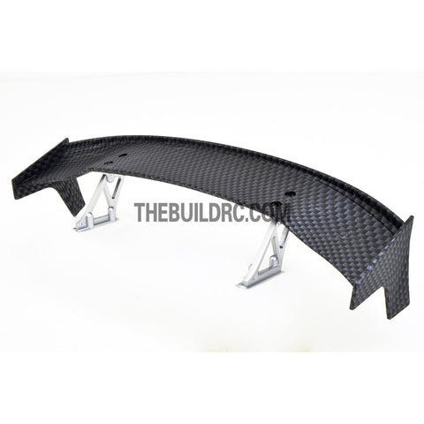 1/10 RC Racing Car 185x33mm Carbon Fiber Pattern GT Wing Rear Spoiler with Stand Style B