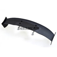 1/10 RC Racing Car 170x31mm Carbon Fiber Pattern GT Wing Rear Spoiler with Stand Style A
