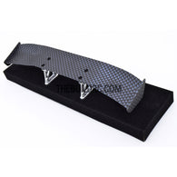 1/10 RC Racing Car 170x27mm Carbon Fiber Pattern GT Wing Rear Spoiler with Stand