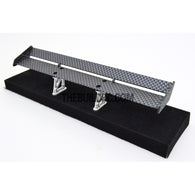 1/10 RC Racing Car 170x28mm Carbon Fiber Pattern GT Wing Rear Spoiler with Stand Style A
