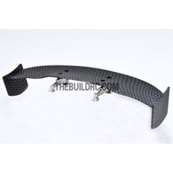 1/10 RC Racing Car 170x31mm Carbon Fiber Pattern GT Wing Rear Spoiler with Stand Style B