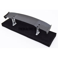 1/10 RC Racing Car 170x32mm Carbon Fiber Pattern GT Wing Rear Spoiler with Stand Style B