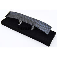 1/10 RC Racing Car 170x28mm Carbon Fiber Pattern GT Wing Rear Spoiler with Stand Style B