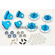 1/10 RC On-road Car Aluminum Brake Disc Kit - Blue