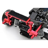 1/10 RC Car Alloy Adhesive Magic Tape Adjustable Stealth Body Stand / Mount - Red