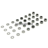 0.5 / 1.0 / 1.5 / 2.0 / 2.5 / 3.0 / 3.5 / 4.0mm 1/10 RC Racing Car Alloy Washer Set - Grey