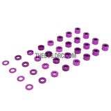 0.5 / 1.0 / 1.5 / 2.0 / 2.5 / 3.0 / 3.5 / 4.0mm 1/10 RC Racing Car Alloy Washer Set - Purple