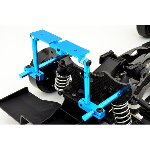 1/10 RC Car Height Adjustable Alloy Stealth Body Stand / Mount - Light Blue