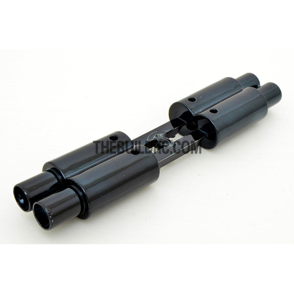 Twin Exhaust Pipe Dummy for 1/10 RC Racing Car - Black