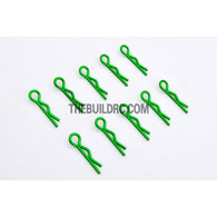 Body Clip for 1/12 - 1/18 RC Buggy Truggy Car (10pcs) - Metallic Green