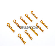 Body Clip for 1/12 - 1/18 RC Buggy Truggy Car (10pcs) - Gold