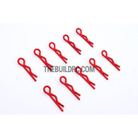Body Clip for 1/12 - 1/18 RC Buggy Truggy Car (10pcs) - Metallic Red