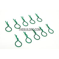 Body Clip for 1/10 RC Buggy Truggy Car (10pcs) - Metallic Green
