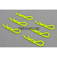 Body Clip for 1/8 RC Buggy Truggy Car (6pcs) - Fluorescent Yellow