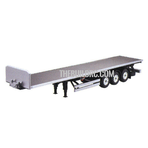 3-Axle Flatbed Semi-Trailer for 1/14 RC Freightliner Cascadia Evolution Truck