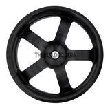 1/10 RC Car High Quality One-Piece Cast 5 Spoke 3mm Offset DRIFT Alloy Wheel Sports (4pcs) - Black