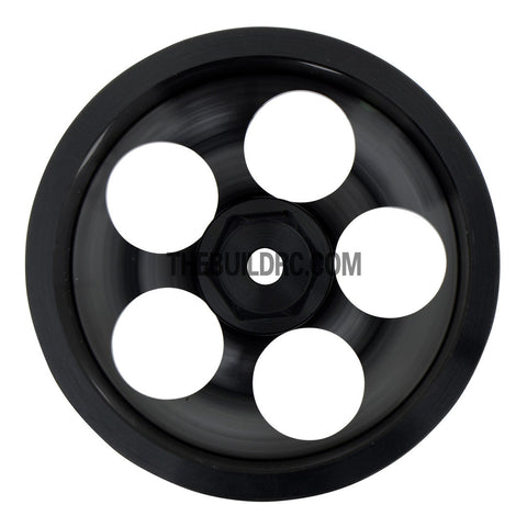 1/10 RC Car High Quality One-Piece Cast 5 Spot 3mm Offset DRIFT Alloy Wheel Sports (4pcs) - Black