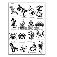 AQ Dispersible Thin Film Model Decal Black & White Snake / Spider / Lizard