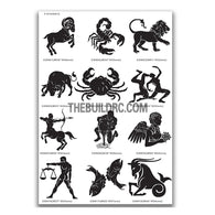 AQ Dispersible Thin Film Model Decal Black & White Zodiac