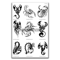 AQ Dispersible Thin Film Model Decal Black & White Scorpion