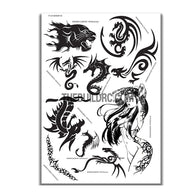 AQ Dispersible Thin Film Model Decal Black & White Dragon