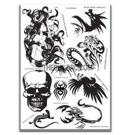 AQ Dispersible Thin Film Model Decal Black & White Dark Symbols