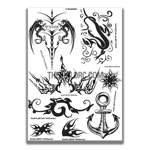 AQ Dispersible Thin Film Model Decal Black & White Symbols
