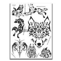 AQ Dispersible Thin Film Model Decal Black & White Wolfs