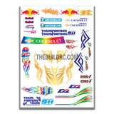 AQ Dispersible Thin Film Colour Model Decal Brands Logos