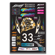 AQ Dispersible Thin Film Colour Model Decal WRC 2014 Brands Logos