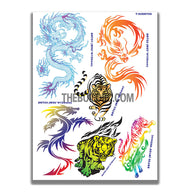 AQ Dispersible Thin Film Colour Model Decal Tiger Dragon