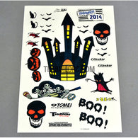 Halloween Ghost Party AQ Dispersible Thin Film Color Decal