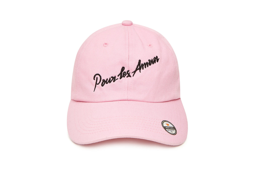 A DRINK PINK EMBROIDED HAT