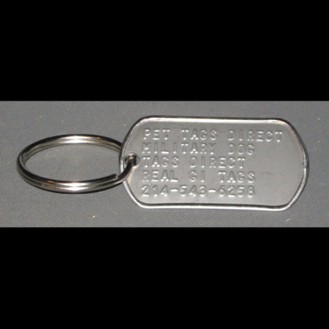 Real US Military GI Dog Tag Key Ring