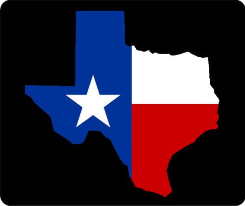 Texas State Flag Outline Thick Mouse Pad
