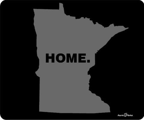 Grey Minnesota Home Mouse Pad by Atomic Market