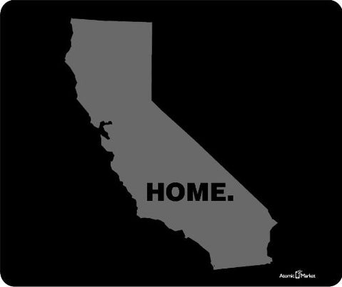 Grey California Home Mouse Pad by Atomic Market