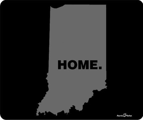 Grey Indiana Home Mouse Pad by Atomic Market